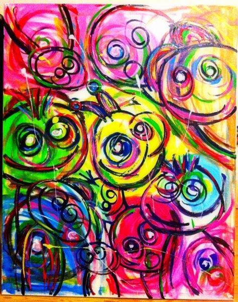 Flotte farverige malerier